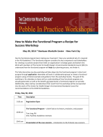 How to Make the Functional Program a Recipe for Success Workshop