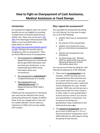 How To Fight an Overpayment of Cash Assistance, Medical