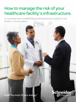 How to manage the risk of your healthcare - Schneider Electric