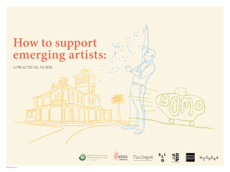 How to support emerging artists: - ASB Community Trust