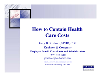 How to Contain Health Care Costs