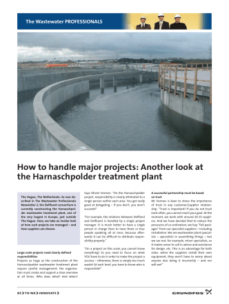 How to handle major projects: Another look at the Harnaschpolder
