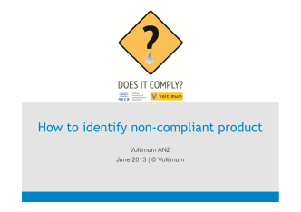 How to identify non-compliant product - Does it Comply?