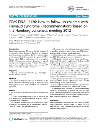 PReS-FINAL-2126: How to follow up children with Raynaud