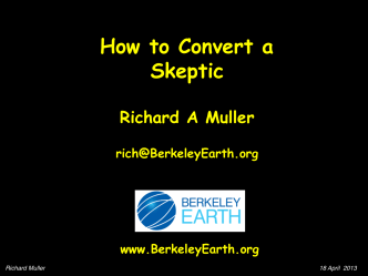 How to Convert a Skeptic - Berkeley Earth