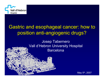 Gastric and esophageal cancer: how to position anti - Eticho.org