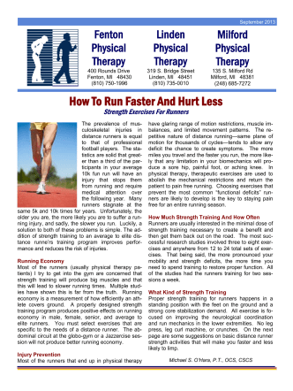 How To Run Faster And Hurt Less - Fenton Fitness and Athletic Center