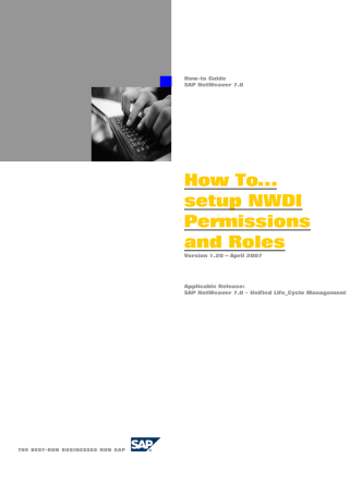How To… setup NWDI Permissions and Roles