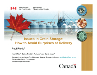 Issues in Grain Storage: How to Avoid Surprises at Delivery