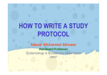 How to write a study protocol - NCI