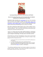 Download APE Press Release - Author, Publisher, Entrepreneur
