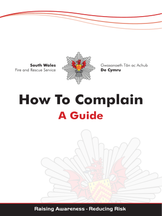 How To Complain - South Wales Fire and Rescue Service