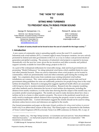 "THE ""HOW TO"" GUIDE TO SITING WIND TURBINES - Legalectric"