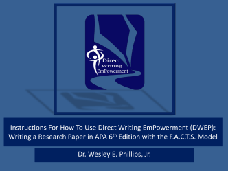 How To Use DWEP - Direct Writing EmPowerment LLC