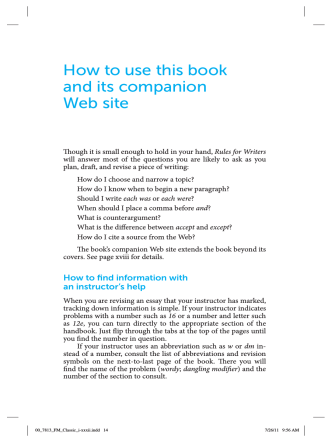 How to use this book and its companion Web site - e-books.bfwpub