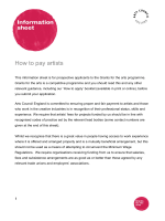 How to pay artists - Arts Council England