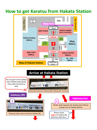How to get How to get Karatsu from Hakata Station from Hakata