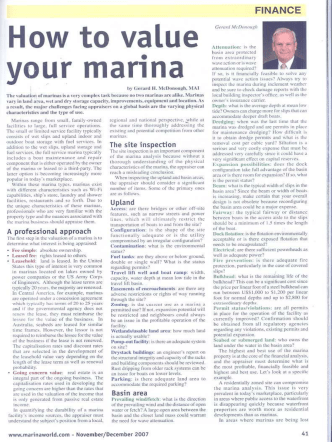 How to value your marina - Marinevest