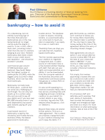 bankruptcy – how to avoid it - All Financial Services