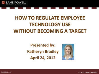 HOW TO REGULATE EMPLOYEE TECHNOLOGY USE - Ascentis