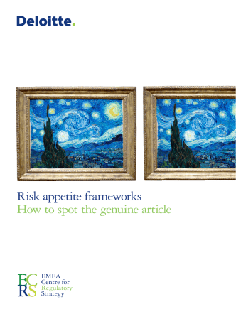 Risk appetite frameworks How to spot the genuine article