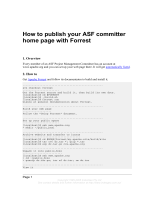 How to publish your ASF committer home page with - IndexGeo