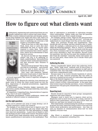 How to figure out what clients want - Communication Resources