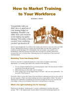 How to Market Training to your Workforce (Apr 06) - CEdMA