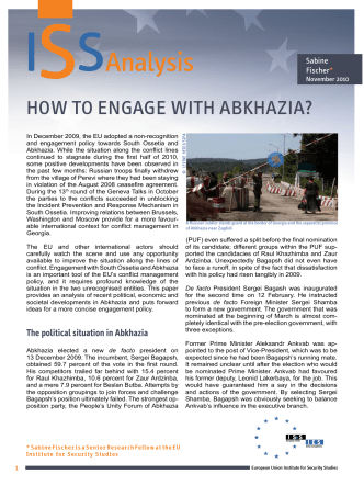 How to EngagE wItH abkHazIa? - European Union Institute for