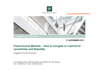 Fixed Income Markets – How to navigate in a period of uncertainty