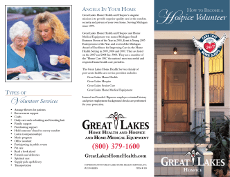 How to Become a Great Lakes Hospice Volunteer