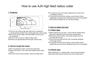 How to use AJX high feed radius cutter