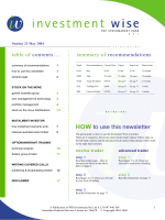 HOW to use this newsletter - Wise Owl