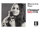 How to Use Your 17/19 - Pentax Manuals