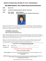 May WiNUP Meeting – How to Make Sound Financial Decisions