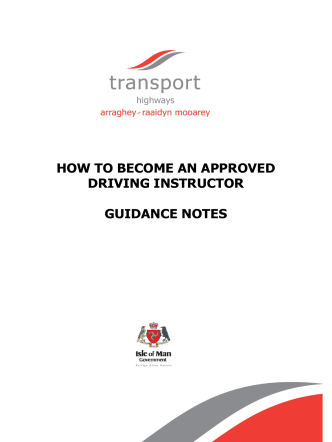 HOW TO BECOME AN APPROVED DRIVING INSTRUCTOR