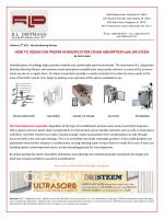 HOW TO DESIGN FOR PROPER HUMIDIFICATION STEAM