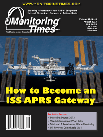 How to Become an ISS APRS Gateway - Monitoring Times