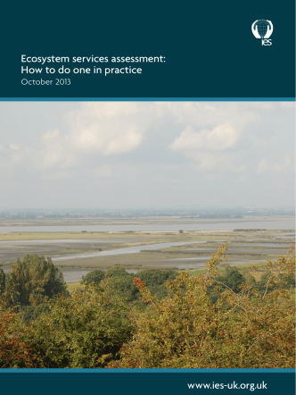 Ecosystem services assessment: How to do one in practice