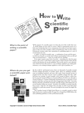 SPaper Write How to cientific - GEOCITIES.ws