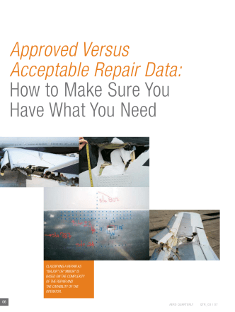 Approved Versus Acceptable Repair Data: How to make - Boeing