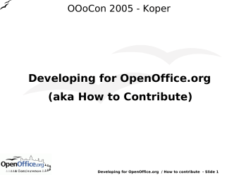 Developing for OpenOffice.org (aka How to Contribute)