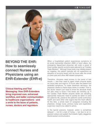 BEYOND THE EHR: How to seamlessly connect Nurses and
