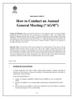 "How to Conduct an Annual General Meeting (""AGM"")"