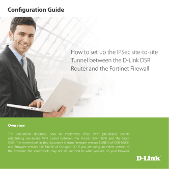 How to set up the IPSec site-to-site Tunnel between the D-Link DSR