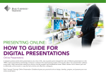 HOW TO GUIDE FOR DIGITAL PRESENTATIONS - Dale Carnegie