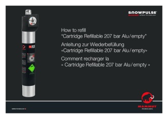 "How to refill ""Cartridge Refillable 207 bar Alu / empty - Mammut"