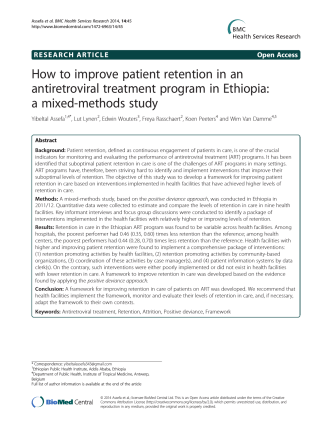 How to improve patient retention in an antiretroviral treatment