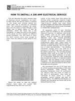 HOW TO INSTALL A 200 AMP ELECTRICAL SERVICE