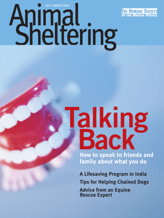 How to speak to friends and family about what - Animal Sheltering